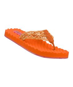 Take a look at this Orange Sea Bree Flip-Flop by Skechers on #zulily today!