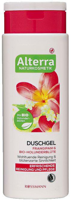 Das Alterra Duschgel belebt und erfrischt Ihre Haut und reinigt sie dabei sanft. Die Kombination mit hochwertigem Frangipani- und Bio-Holunderblütenextrakt sorgt für ein blumiges Vergnügen unter der Dusche - zart wie ein Blütenregen.