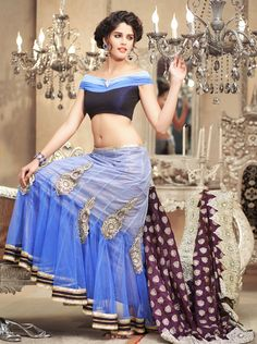 Traditional Life Style For Ladies: Latest Indian Bridal Saree 2013 l Party Wear Indian Saree Collection 2013 For Womens Indian Bridal Party, Indian Bridal Sarees, Lehenga Style Saree, Blue Lehenga, Net Lehenga, Saree Blouse, Indian Clothes Online, Indian Sarees Online, Indian Dresses
