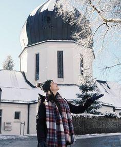 Dando tchau para Berchtesgaden em grande estilo! Neve frio e uma vista linda da cidadezinha... Alemanha nos surpreendendo  com os seus pequenos e encantadores lugares!