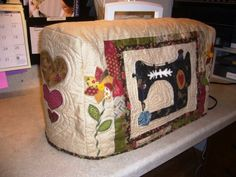 13. #Quilted Pattern - 19 Fun and #Fancy Sewing Machine #Covers ... #Sewing