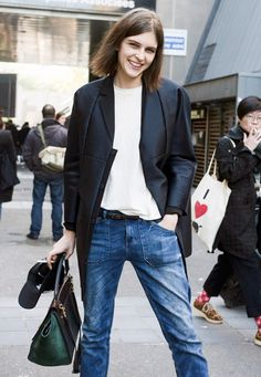 Sophisticated tomboy: off duty in Paris