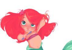 disney the little mermaid baby ariel