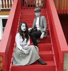 Monochromatic Halloween Costume for Couples