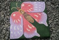 Coral and Purple Butterfly Stepping Stone