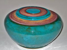 Turquoise Lidded Vase Urn Mother's Day Sale by earthtoartceramics on Etsy
