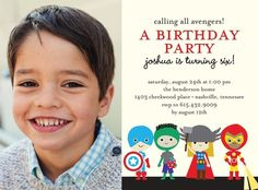 Super Cute Heroes - Birthday Party Invitations in Vanilla | Ann Kelle