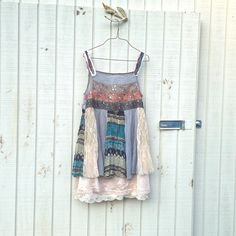 sm / med mini dress / Funky Eco Romantic Upcycled by CreoleSha, $107.99