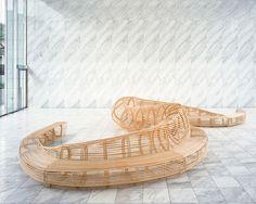 frank gehry tokyo bench at design tide tokyo design week 2008