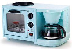Americana by Elite Mini Breakfast Shoppe, Coffee, Toaster Oven Small Kitchen Appliances, Kitchen Gadgets, Copper Appliances, Kitchen Labels, 4 Cup Coffee Maker, Elite 3, Breakfast Station, Stove Oven, Kitchens