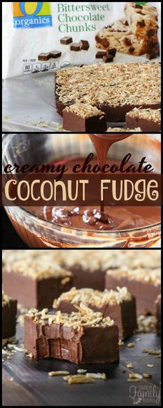 You will love the smooth, rich taste of this creamy chocolate coconut fudge. Not grainy at all. Just pure, decadent chocolate fudge with a hint of coconut! #chocolatecoconutfudge #coconutfudge #fudge #chocolatefudge #toastedcoconut via @favfamilyrecipz