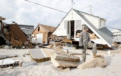 Brick NJ Hurricane Sandy Photos | New Jersey National Guardsmen on patrol in Hurricane Sandy ravaged ...