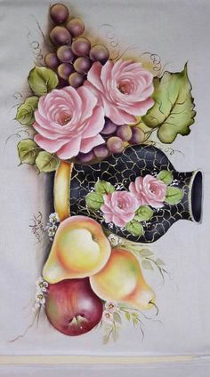 481 Best bules e xícaras images in 2020 Fruit Painting, Tole Painting, Fabric Painting, Decoupage Jars, Decoupage Paper, Oriental Flowers, Painted Cups, Coffee Painting, Pottery Designs