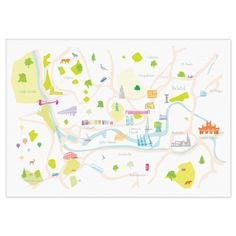 Map of Bristol Print by hollyfrancesca on Etsy