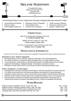 career change resume sample librarian resume transitioning career to information technology. Resume Example. Resume CV Cover Letter