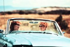 Thelma & Louise...What A Pair...They Road Right Into Film History In That Thunderbird...