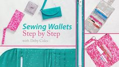 Sew your own functional, stylish wallets.