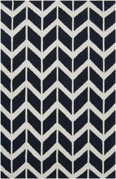 Jill Rosenwald Arrowhead Rug, Midnight Blue / Lulu and Georgia