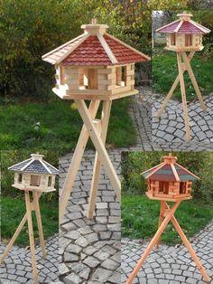 Vogel Vogelhaus mit Ständer Vogelhäuschen Futterhaus Futterhäuschen Futtersilo | Garten & Terrasse, Dekoration, Vogelhäuser | eBay!