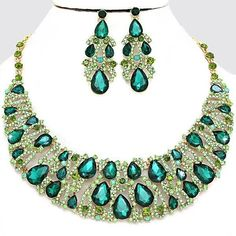 Royal Emerald Green Olivine Peridot Crystal Rhinestone Pave Teardrop... ($60) ❤ liked on Polyvore featuring jewelry, gold bridal jewelry, gold prom jewelry, costume jewellery, holiday jewelry and bridal jewellery