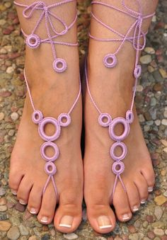 Crochet Barefoot Sandals- Great Accessory for vacation. $ 11.49, via Etsy.