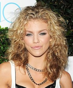 Medium Curly hair Styles For Women Over 40 | AnnaLynne McCord Hairstyle - Casual Long Curly - 9357 | TheHairStyler ...