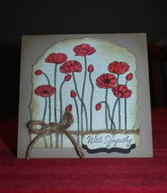 Poppies Sketch Sympathy by mamaxsix - Cards and Paper Crafts at Splitcoaststampers