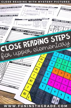 I'm sure you've heard of it....close reading.  But are you wondering what all the hype is really about?  Read this blog post about close reading- the benefits of it, what exactly it is!  Each of the 6 steps of close reading is closely explained and reading activities to make close reading fun in the upper elementary classroom.