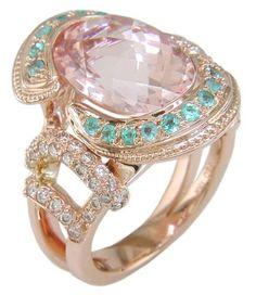 Morganite, Paraiba & Diamond Ring