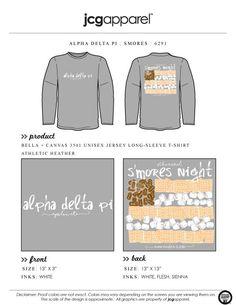 JCG Apparel : Custom Printed Apparel : Alpha Delta Pi S'mores T-Shirt #alphadeltapi #adpi #smores #greek
