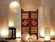 Capiz Shell Lighting...these are really unusual...The columns are beautiful...