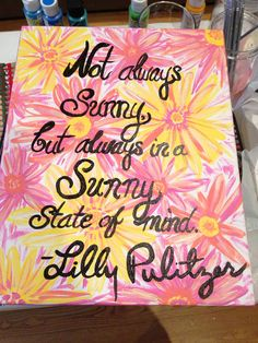 Lilly Pulitzer Print/ Quote Canvas on Etsy, $30.00