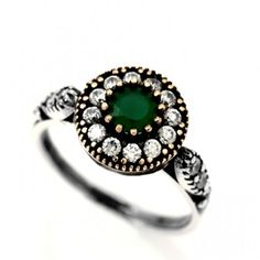 Turkish Style Emerald Ring