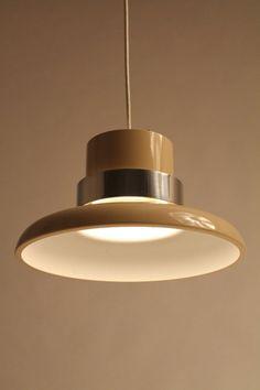 LIGHTOLIER VENTED PENDANT or chandelier mid by VINTAGELAMPDEN