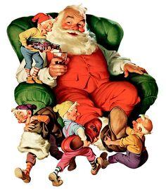 Coca Cola Santa, illustrations by Haddon Sundblom for the Coca Cola Company