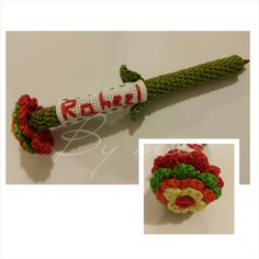 "Raheel...رحيل  An indirect #Quranic name that means ""to go on a journey"" ⬅⬅⬅ #bymee #bymeecreations #crossstitch #crochet #flower #pen #pencover #flowerpen #customised #colorful #gadget #gift #thoughtful #friendship #giftforafriend #gifts #personalisedgift #gift #bestofthebest #lebanesedesigners #beirut #handmade #lebanon"
