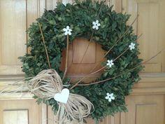 Buxus, Grapevine Wreath, Grape Vines, Diy And Crafts, Wreaths, Spring, Handmade, Home Decor, Flowers