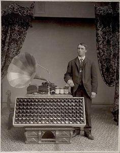 Edison phonograph Salesman