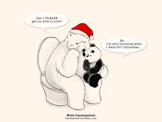 I hope you are ready for the Christmas Season, because we're still thinking about it. :P » Wish Constipation Panda and Polar Bear