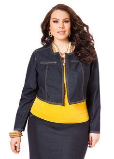 Plus Size Denim Jacket From Ashley Stewart - PLUS Model Mag