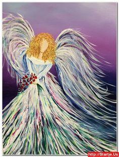 Acrylic Angel Paintings 11