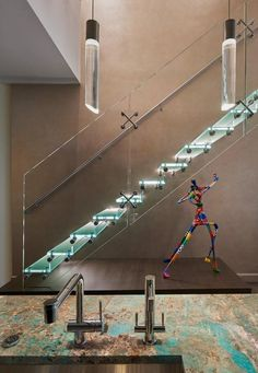 Glass stairs add a sense of exclusivity and elegance to a space. Find a large selection of straight, helical and spiral glass stairs. Glass Stairs, Glass Building, Led, Simple