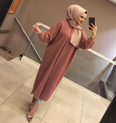 Renk Hijab Outfit, Ootd Hijab, Hijab Dress, Modern Hijab Fashion, Muslim Fashion, Hijab Chic, Trendy Outfits, Fashion Outfits, Womens Fashion