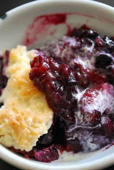 Berry cobbler spray the pan then a layer of frozen berries, sprinkle ...