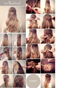 acconciature- hairstyle - fiore con trecce - flower with braid http://visualfashionist.blogspot.it/2013/03/acconciature-semplici-per-la-primavera.html#more