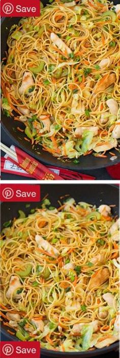 Chicken Chow Mein - this is just as good as any take out and its so easy to make! My whole family loved it even my picky eaters!