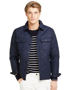Diamond-Quilted Shirt Jacket - Cloth  Jackets & Outerwear - RalphLauren.com - 2015 SS