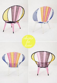 cool out door chairs with color