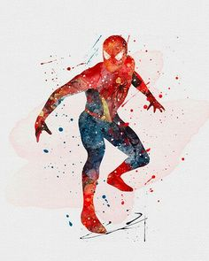Watercolor - Spider-Man