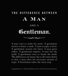 There are not enough confident, respectable men in the world; but being a gentleman is an art that can be learned.This article explains why men need to work to become gentlemen and offers several suggestions for particular situations.